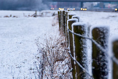 Heavy traffic (j.elemans) Tags: winter snow holland nature dutch fence nijmegen highway sony farmland beuningen gelderland a300 a73 mygearandmepremium mygearandmebronze mygearandmesilver mygearandmegold