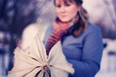 Day 008 (Beth Frueh) Tags: winter nature scarf umbrella canon vintage 50mm coat canonrebel 365 f18 010811 8365 2011yip 365the2011edition
