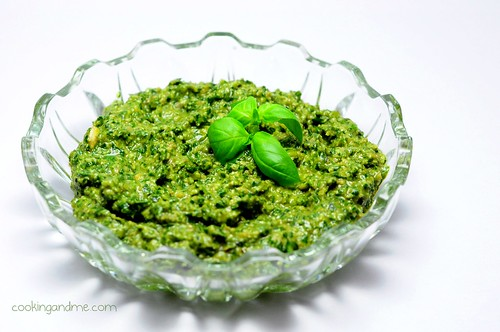 Fresh basil pesto recipe
