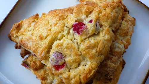 Flaky Cranberry Orange Scones