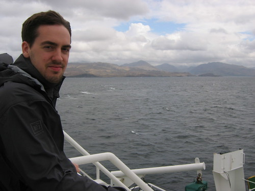 Keith crossing the sea from Skye