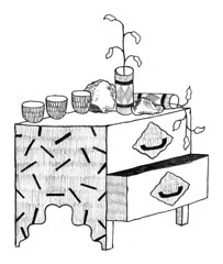 pencil 05 (rand rand renfrow renfrow) Tags: plants pencil furniture drawing boring pots