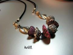 Zebra-lila (Ingul-design) Tags: necklace unique jewelry fimo clay kato polymer premo ketten handarbeit unikate handcraftet