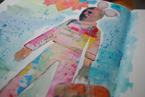 Imaginary Boyfriend out walking - Art Journal detail