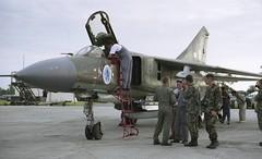 Mig-23 Flogger Czech & Slovak Air Forc (Nigel Musgrove-2.5 million views-thank you!) Tags: force czech air flogger 1991 raf fairford mig23 slovak iat 4644