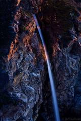 Last Light on the Falls (Jeffrey Sullivan) Tags: ocean california sunset sea copyright usa seascape jeff nature canon landscape photo waterfall big pacific january sur sullivan 2011 caliparks