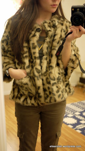 Anthropologie S Out Of The Jungle Leopard Coat Elle Amp Ish