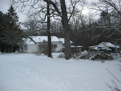 My neighbors' house in the snow