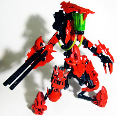 RED COG Eviscerator (Protosteel) Tags: red lego collab bionicle cog foitsop brickfair bioniclewithoutthebionicle