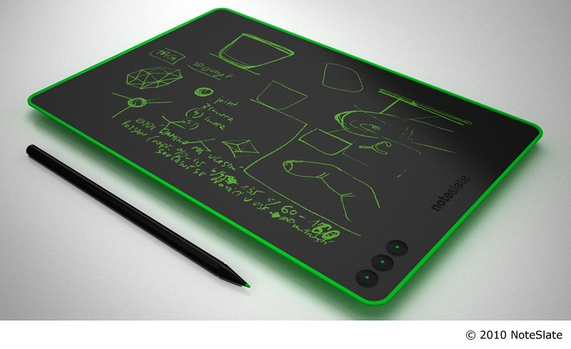 Mẫu thiết kế ý tưởng tablet NoteSlate sử dụng công nghệ e-ink màu