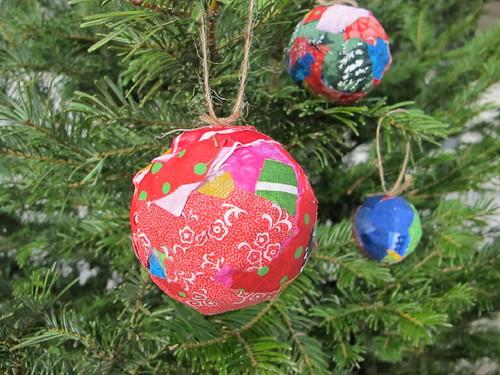 Beautifully bright fabric ornaments