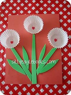 cupcake liner valentine
