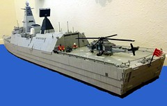 HMS Ardent  rear quarter (Babalas Shipyards) Tags: ship lego military navy helicopter frigate asw minifigscale