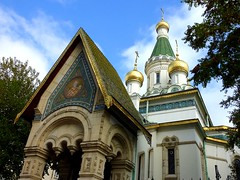 The Russian Orthodox church of St. Nicholas the Miracle-Maker (Frans.Sellies) Tags: sofia bulgaria bulgarie bulgarije bulgarien bulharsko bulgaristan          touraroundtheworld     p1280065