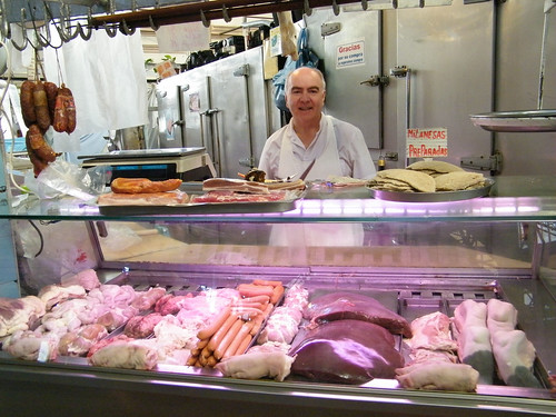 Butcher Selling Offal, Mercado de San Telmo, Buenos Aires by katiemetz, on Flickr
