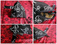 Porta Moedas (gracheke) Tags: square cherry skull alice craft sew fabric silkscreen porta bags eco pinup bolsas kombi moeda tecido colorido xadrez necessaire costuras retalhos bolsinhas cerejinhas portamoeda aproveitamento estampadas cherryskull zebrado