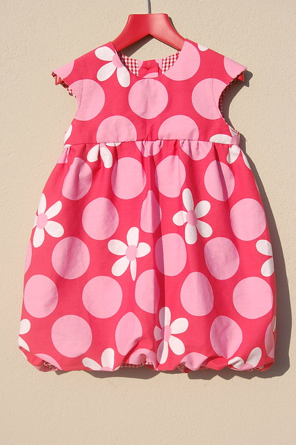 Red Spotty Bubble dress