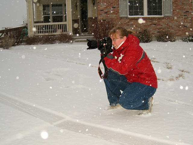 Photographing in the Snow Storm