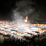 Marrakechs Jemma el-Fna by night