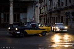 Saturday Night, Havana (carol.fletcher) Tags: street night havana cuba headlights oldcars vintagecars 2010 carheadlights carolfletcher
