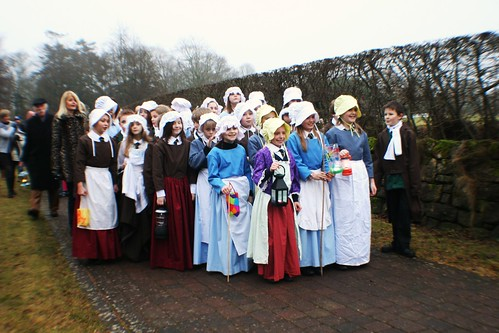 Choir in procession at Alloway, Scotland