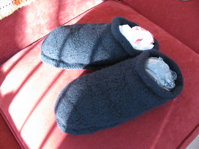 Fiber Trends felted slippers