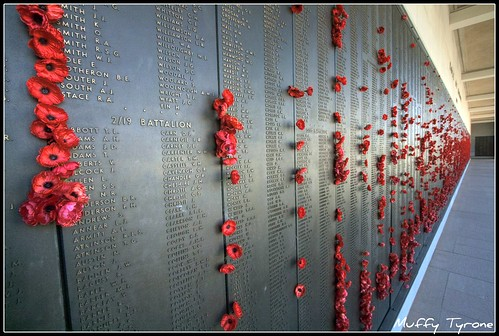 Canberra War Memorial : Wall of rememberance