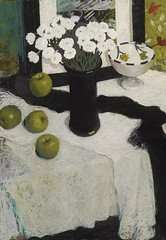 Black Vase and Apples