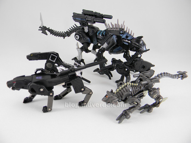 Transformers Ravage HftD Legends - modo robot vs otros Ravages