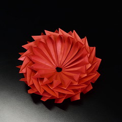 Gear flower more flower than gear Dahlia Katrin in red (Mammaoca2008) Tags: dahlia flower paper origami fiore carta modularorigami origamimodulare