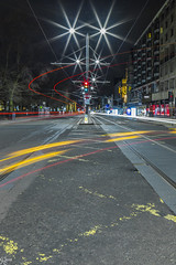 Princess Street (Edgaras Borotinskas) Tags: princessstreet edinburgh landscape urbanlandscape cartrails city traffic scotland starburst