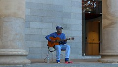 Boston St. Paul's Episcopal Cathedral   --   Studio_20160925_034511 (mshnaya) Tags: new bedford public library solitary solo man men people urban city scene cityscape buildings flickr picture photo photography candid leicac leica point shoot camera red street music guitar