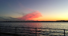 Another Hains Point Sunset (Mr.TinDC) Tags: dc washingtondc hainspoint potomacriver river sunset clouds sky railing