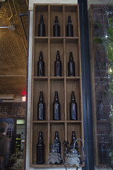 Bottles on the Wall (Stephen Gardiner) Tags: toronto ontario 2016 yongestreet barvolo lastdaysatvolo closing beer bar brewing patio pentax k3ii 1645