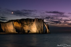 Etretat by night // Normandy (tione76) Tags: normandie normandy moon lune ciel sky nikon d5300 tione76 falaise cliff mer sea cloud nuage light long exposure longue exposition colours couleurs colors