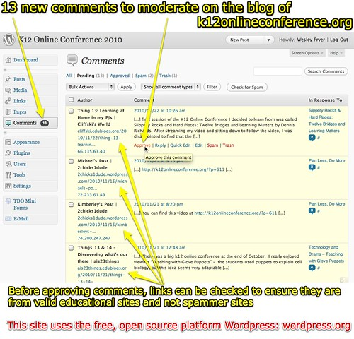 Comment Moderation on WordPress