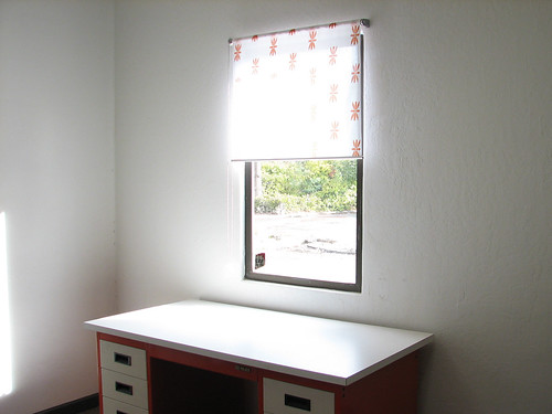 Evil curtains match desk