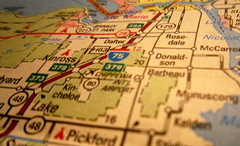 Travel and change of place impart new vigor to the mind.  ~Seneca (katerha) Tags: travel map michigan upperpeninsula dailyshoot ds374