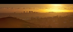 golden city (Eric 5D Mark III) Tags: california sunset sky cloud mountain color canon landscape gold golden losangeles cityscape wide observatory griffith tone ef24105mmf4lisusm horizontalpano eos5dmarkii hpano