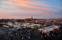 Djemaa el Fna at sunset (shekshots) Tags: morocco marrakech moroc djemaaelfna