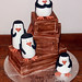 Penguin crate cake