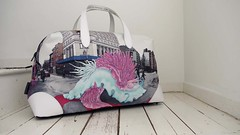 """Amorous Nudis"" Canvas Getaway Holdall Bag from ClickforArt.com (kozyndan) Tags: nyc uk leather bag canvas nudibranch product collaboration kozyndan eyemask hangbag holdall thisisalimitededition click4artcom"