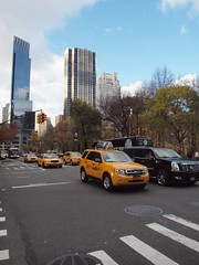 Yellow Cabs (al-absi) Tags: park ny newyork yellow manhattan cab central olympus 1442 e620