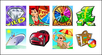 free 5 Reel Wheel Of Chance slot game symbols
