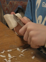 whittling soap