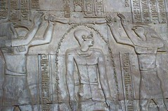 Purification from the deities (Byrd on a Wire) Tags: ruins egypt nile relief archeology hieroglyphics basrelief egyptology komombo templeofsobekandharoesis