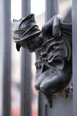 The Guardian (@richlewis) Tags: england london angel gate dof mask bokeh helmet carving buckinghampalace guardian canonefs1755mmf28isusm canoneos7d
