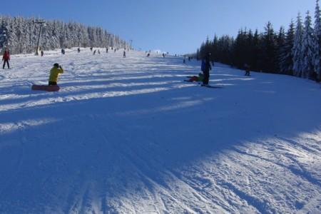 1. lyžování v Koutech nad Desnou