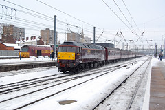 47851, Doncaster 4 December 2010 (jrs1967_1) Tags: winter snow diesel locomotive duff doncaster class47 47851 brush4 doncasterstation wcrc westcoastrailwaycompany
