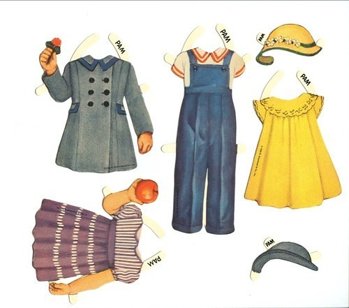 для бумажной куклы одежда